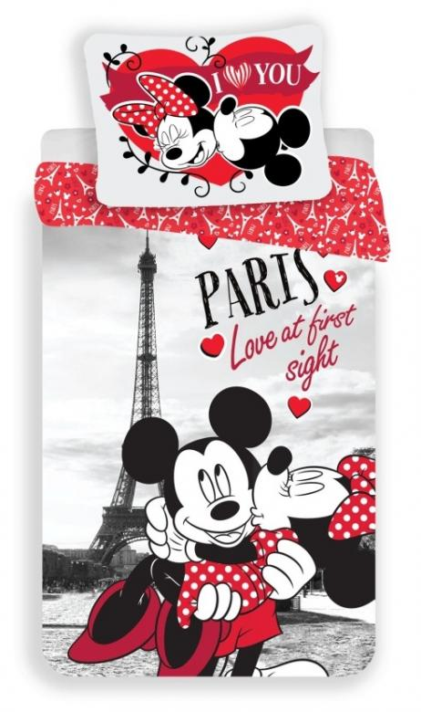 Povlečení Mickey and Minnie in Paris   I love you
