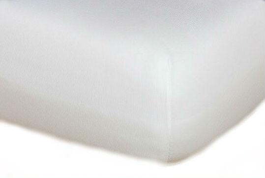 Prostěradla jersey - bílé
