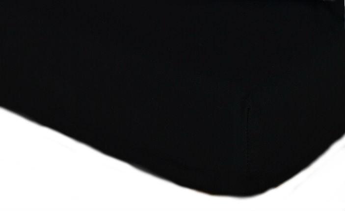 Prostěradla jersey - černá